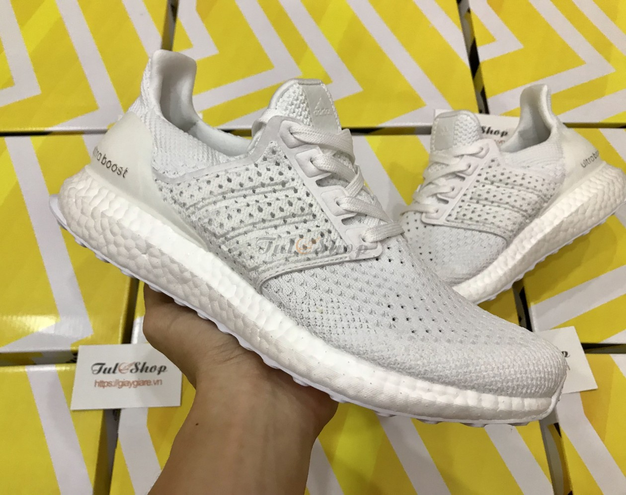 Adidas ultra boost 4.0 Clima trắng nam, nữ rep 1:1