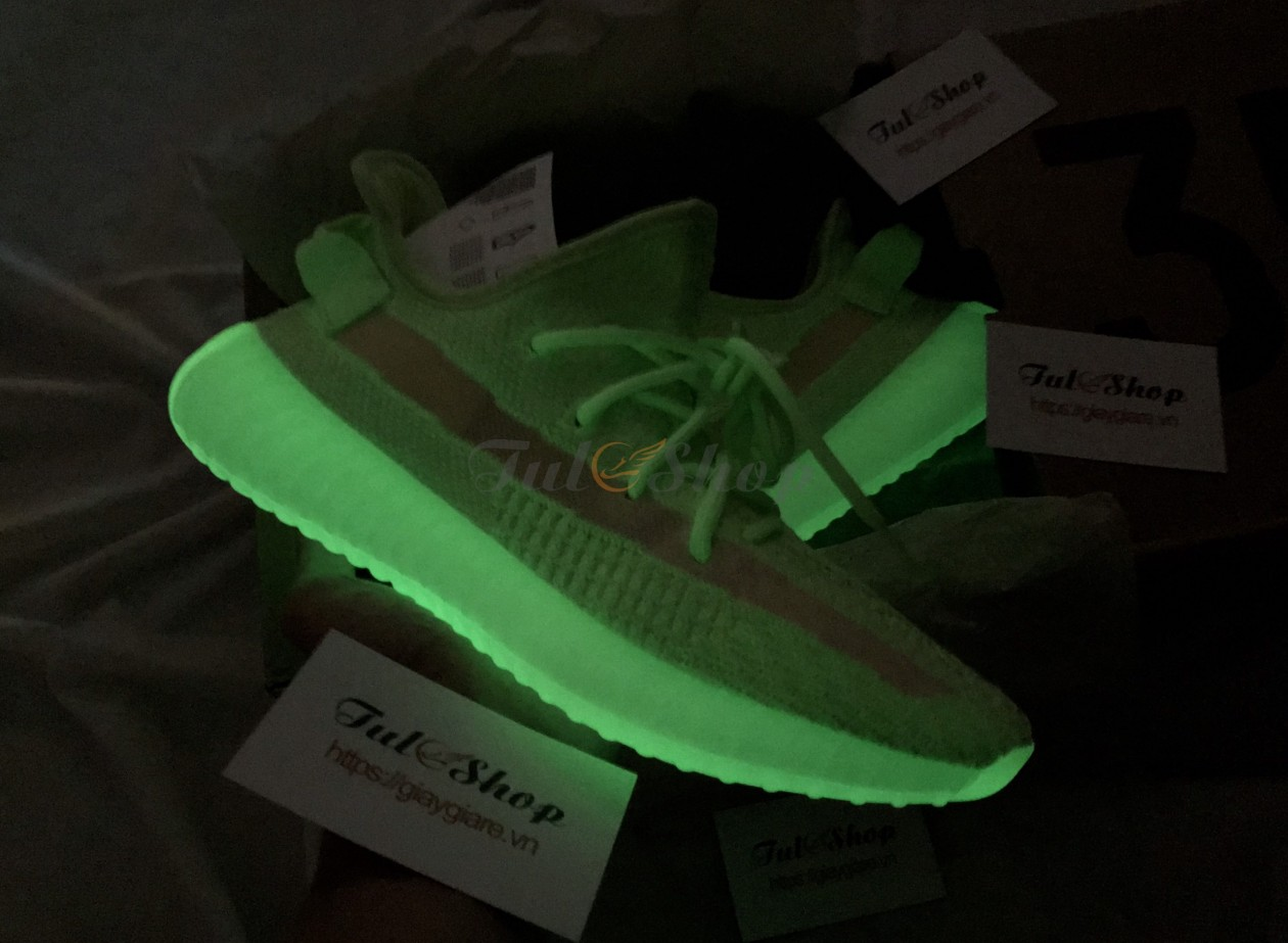 Adidas Yeezy 350 V2 'Glow In The Dark' Dạ Quang Nam Nữ 1:1