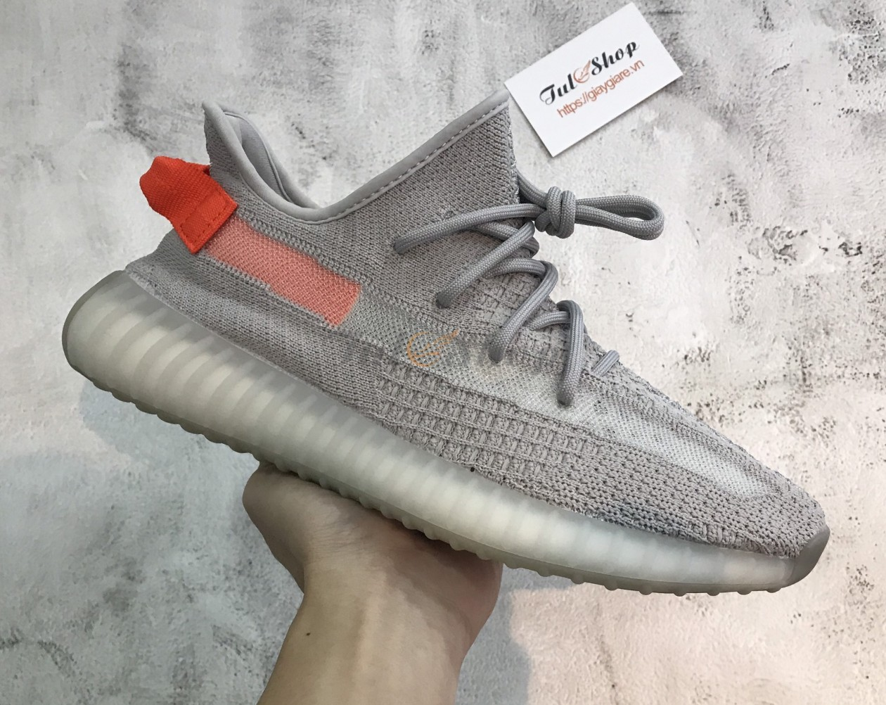 Adidas Yeezy 350 V2 Tail Light (Tailgate) Nam Nữ 1:1