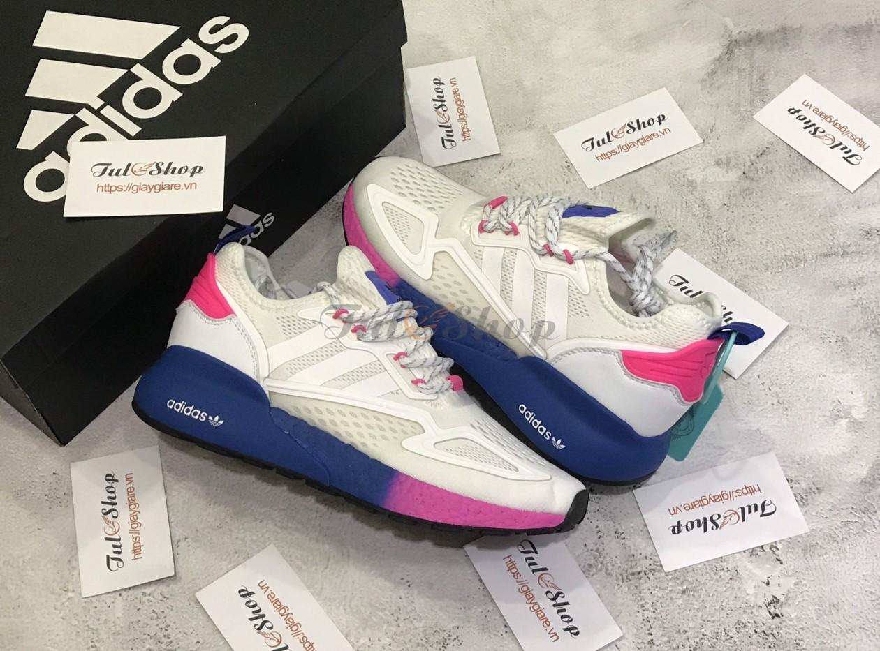 Adidas ZX 2K Boost White Cream Blue Pink 1:1