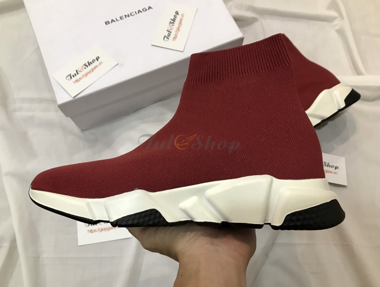 Balenciaga Speed Trainer Red Bordeaux