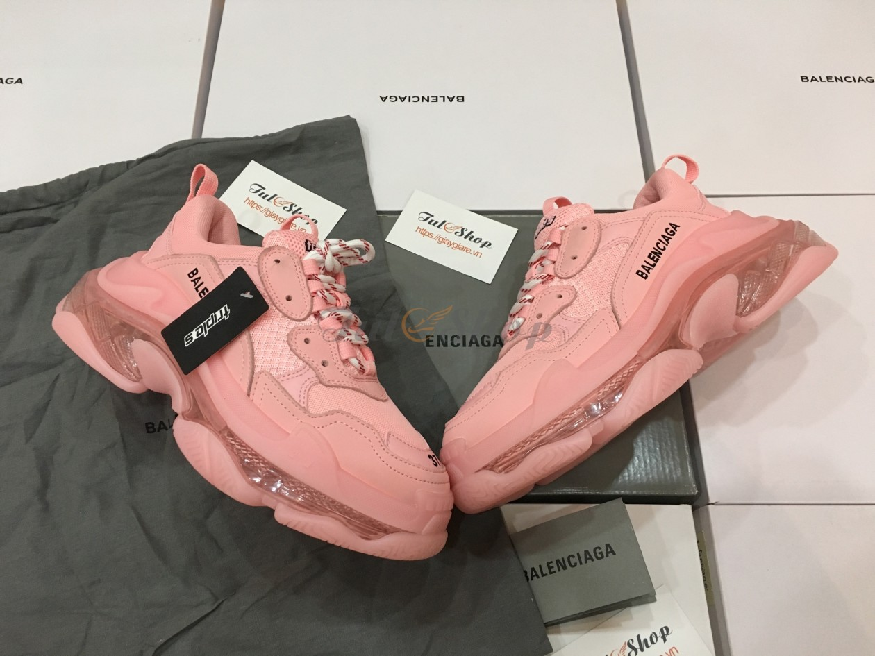 Balenciaga Triple S Pink Clear Sole Nữ