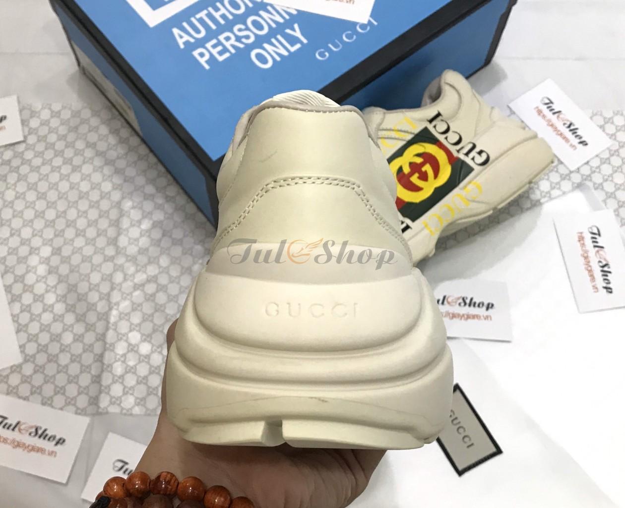 Giày Gucci Rhyton Logo Leather 1:1