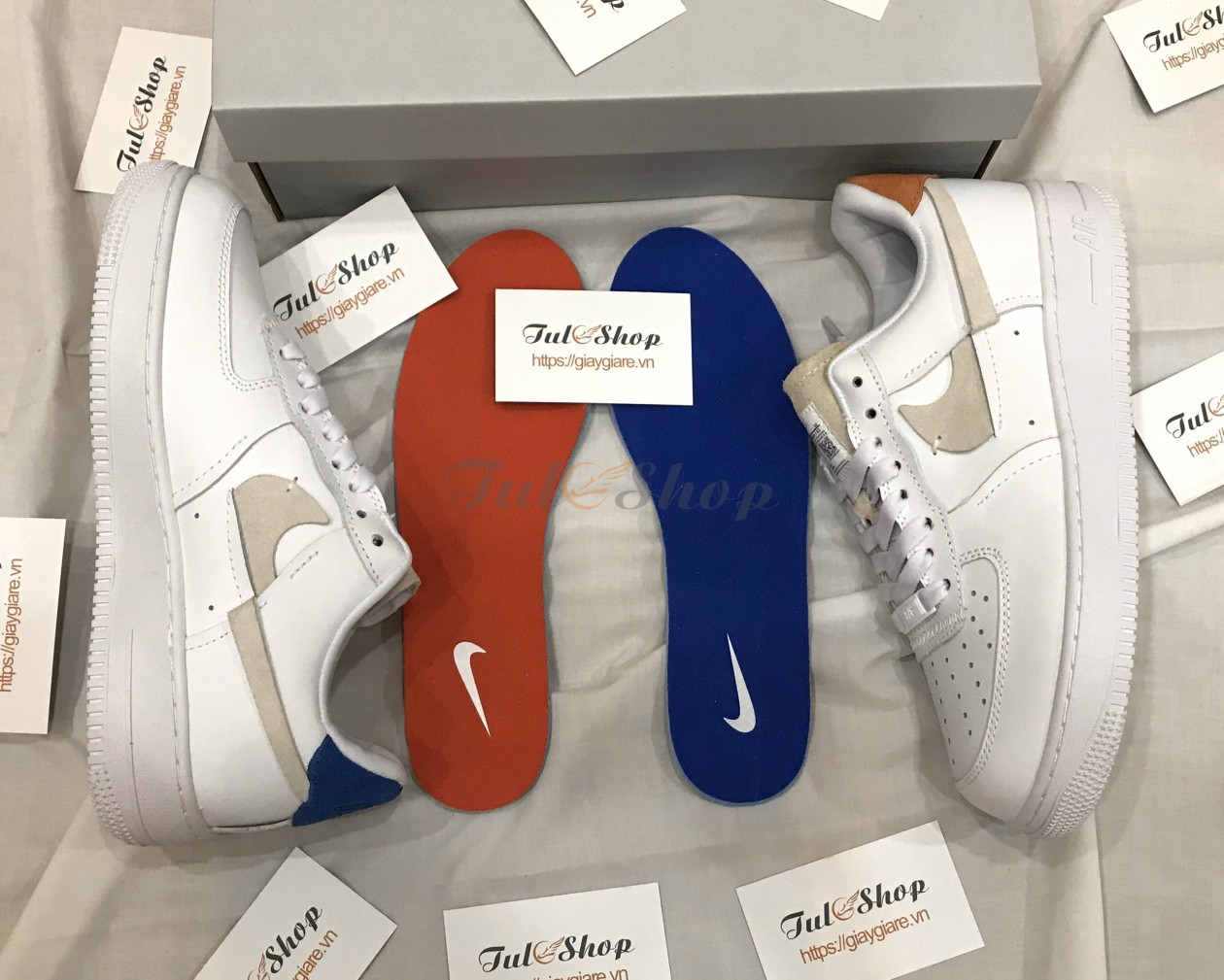 Giày Nike Air Force 1 07 LUX White/Platinum Tint Nam Nữ 2019
