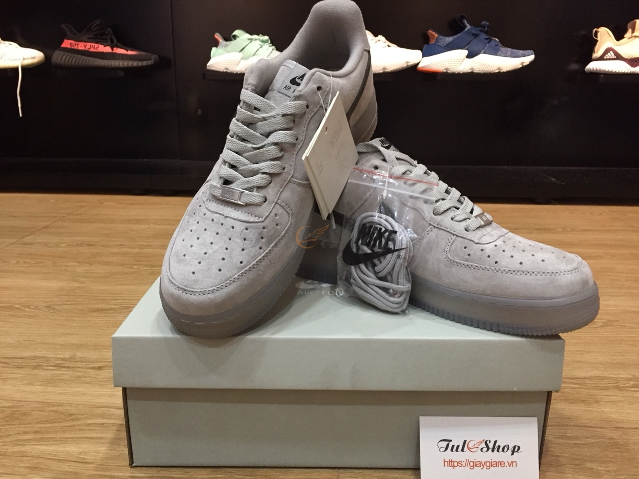 NIKE AIR FORCE 1 DA LỘN XÁM NAM