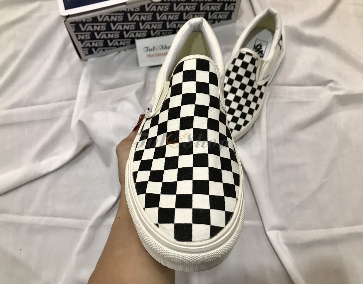 Vans checkerboard slip-on nam, nữ
