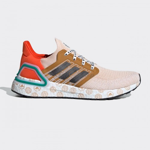 Adidas Ultra Boost 20 Cream Orange Pattern Logo 1:1