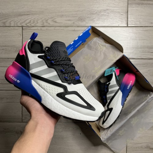 Adidas ZX 2K Boost Core Black Blue Pink 1:1