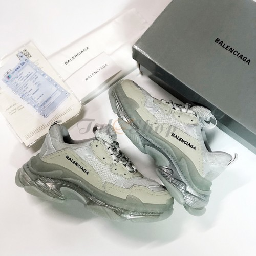 Balenciaga Triple S Grey Clear Sole Nam Nữ 2019