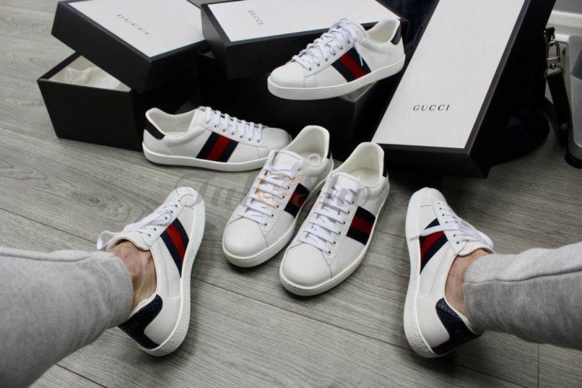 +10 mẫu giày Gucci Ace sang trọng với hoạt tiết độc đáo