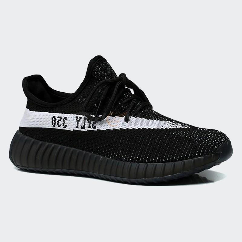 24d30d466 Giày Adidas Yeezy 350 V2 Black White - Đen Sọc Trắng Replica 1 1 Nam Nữ