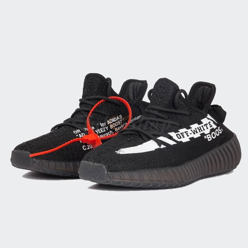 78ae8dbd24522 Giày Adidas Yeezy Boost V2 Off White 350 Màu Đen Sọc Trắng Giá Rẻ