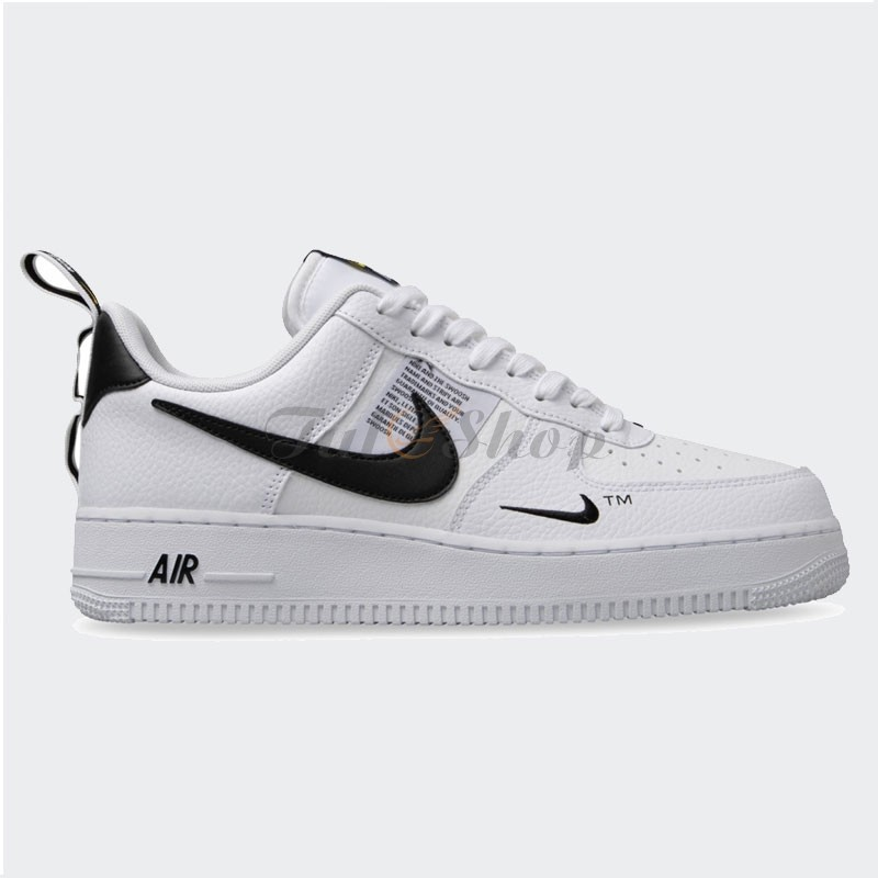Giày Nike Air Force 1 Utility Tr?ng S?c Den Nam N? Replica