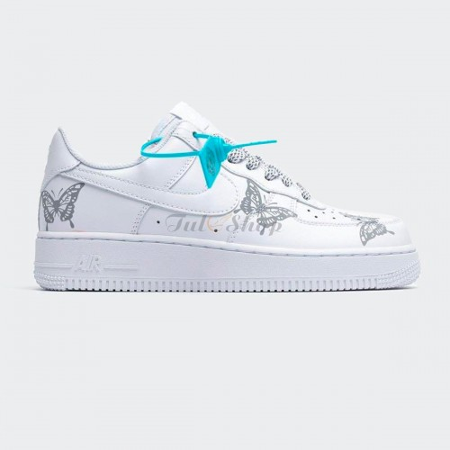Nike Air Force 1 07 White Butterfly Print (Custom)