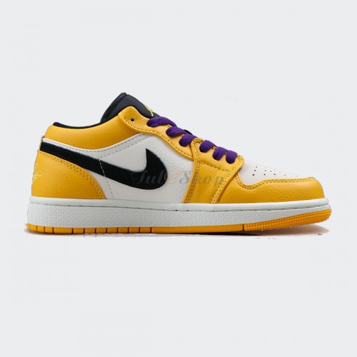Nike Air Jordan 1 Low 'Lakers' Yellow White Black Purple 1:1