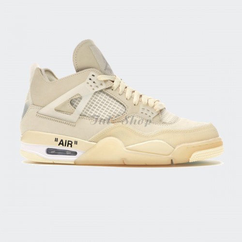 Nike Air Jordan 4 Retro Sail x Off White 1:1