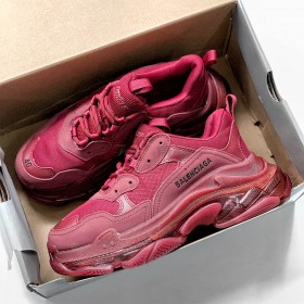 Balenciaga Triple S Red Dark Clear Sole Nam