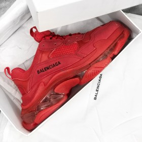 Balenciaga Triple S Red Clear Sole Nam Nữ